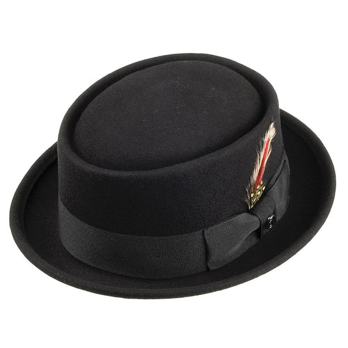 Pork Pie Hat Black