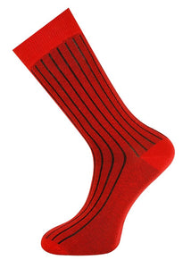 Ribbed Sock Red