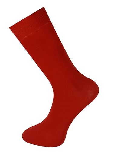 Plain Ankle Sock Red