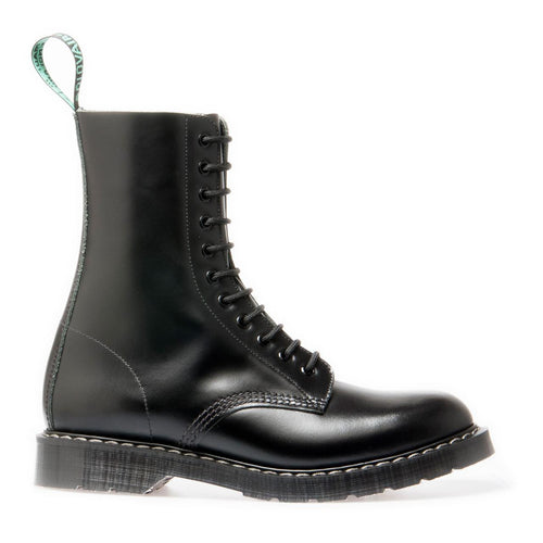 Derby Boot 11 Eye Black Hi Shine