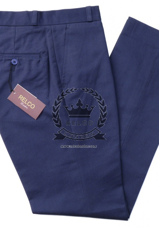 Sta Prest Trousers Navy