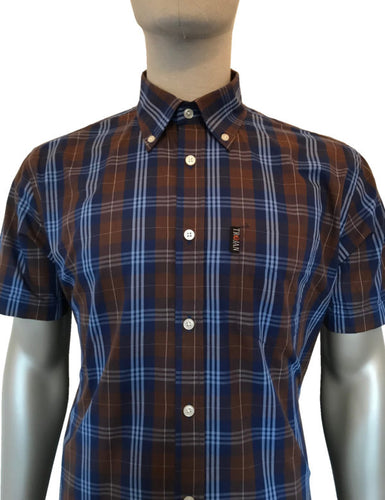 Tartan Check B/D Shirt Chocolate