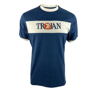 Trojan Embroidered Panel Tee TR/8621 Navy