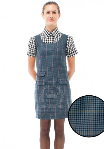Pinafore Blue Tweed