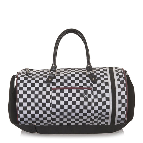 Boysie Check Barrel Bag