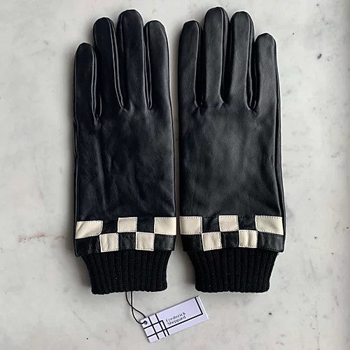 Black and White Check Gloves