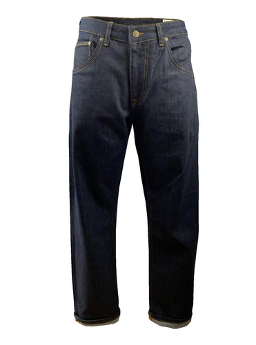 Zip Fly Stretch Straight Leg Badged Jean TC/1022 Raw