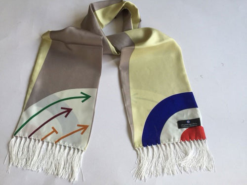 Being Movie Retro silk Aviator scarf
