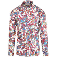 Trip Paisley Mod Psychedelic Paisley Button Down Shirt