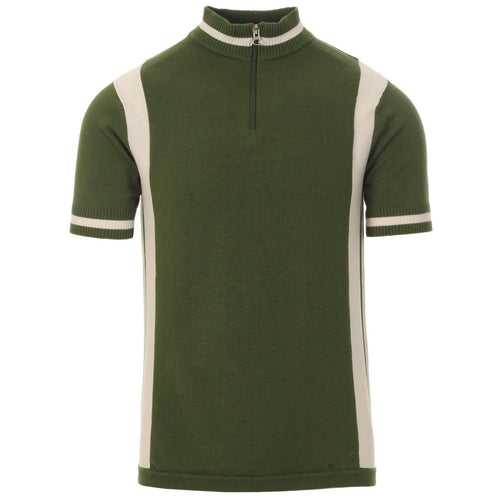 Vitesse Men's Retro Mod Knitted Cycling Top Cypress Green