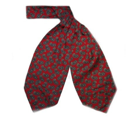 Silk Cravat Burnt Red Small Paisley