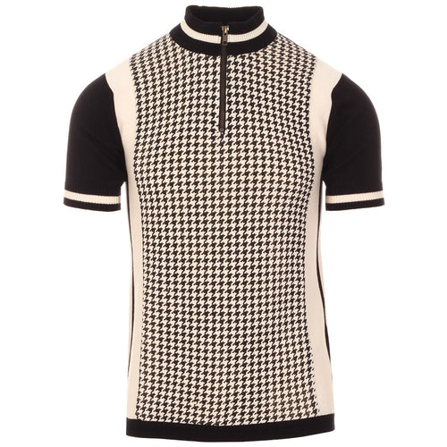 Roue 60s Mod Dogtooth Panel Knitted Cycling Top