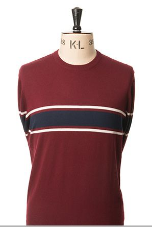 Simon Crew Neck Jumper Wine
