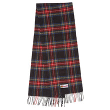 Load image into Gallery viewer, Tartan Wool Scarf Red or Black