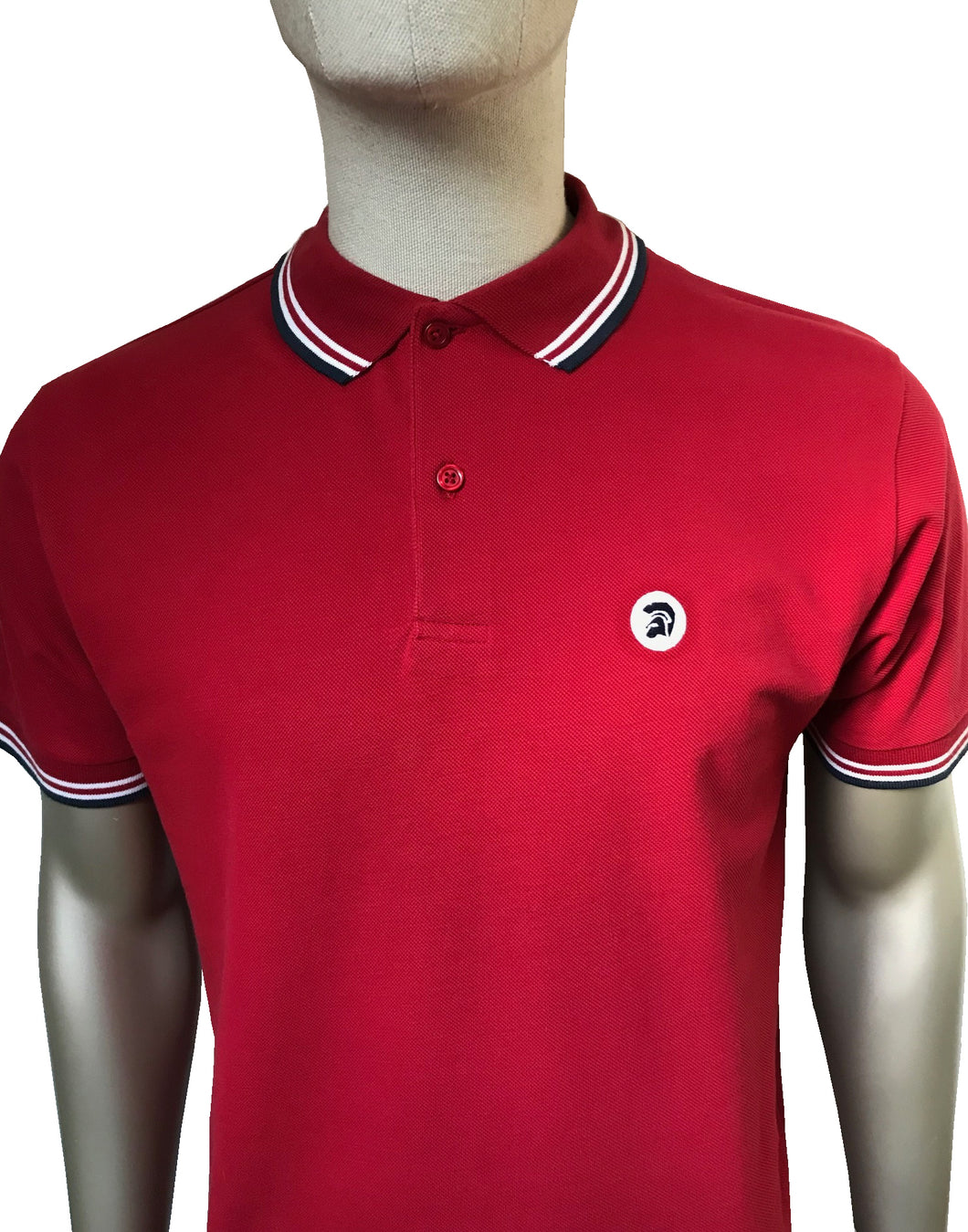 Tipped Pique Polo Blood