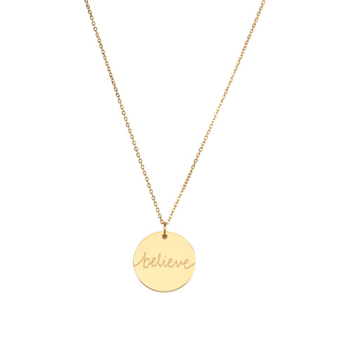 'Believe' Halskette - Gold