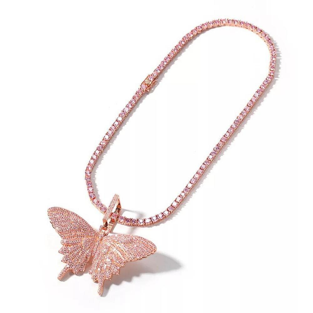 Diamante Butterfly Necklace (4480485261447)