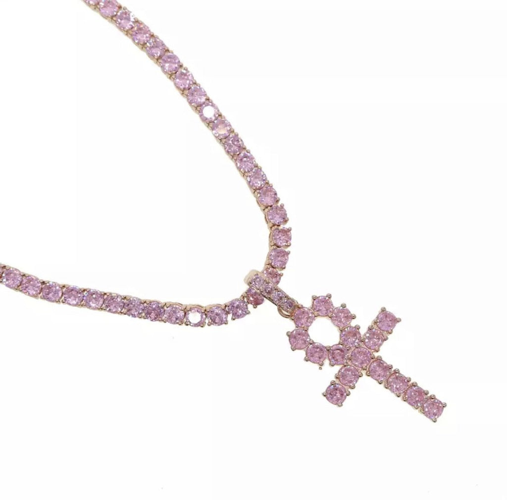 Diamante Cross Necklace (4489039904903)