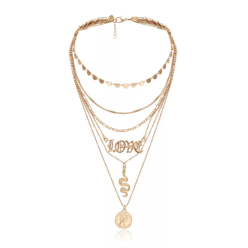 Love Layered Necklace (5354106388646)