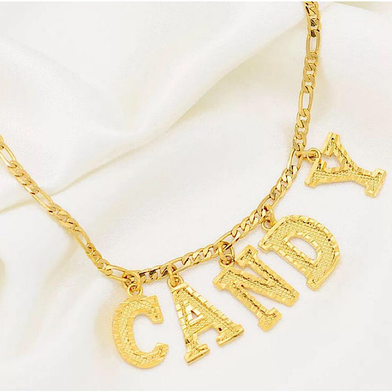 Custom Name Gold Necklace (4739545235591)