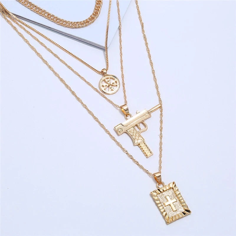 Multi Charm Layered Necklace (3924676509811)