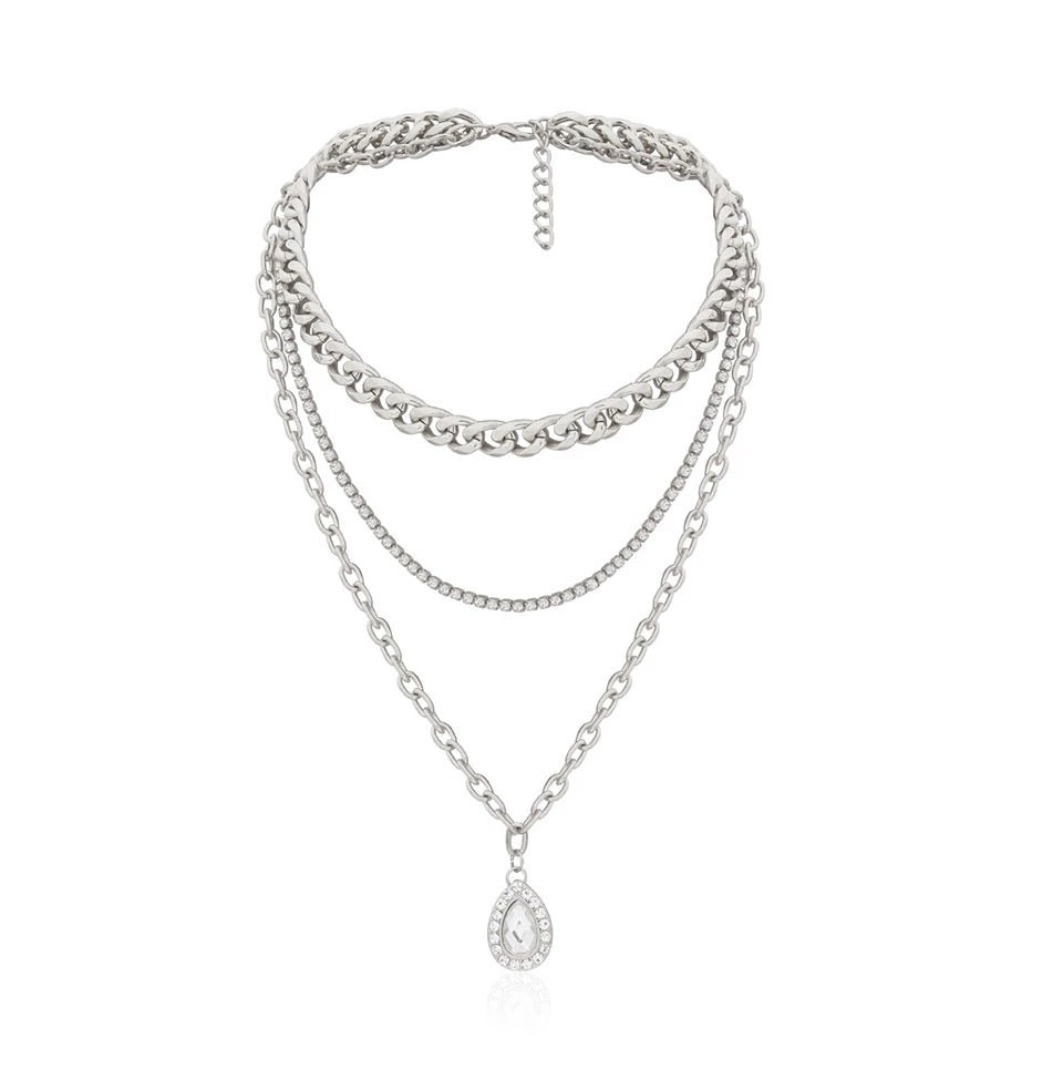 Jewel Charm Layered Necklace (5354070737062)