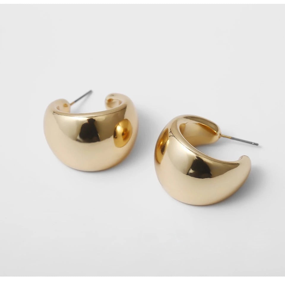 Chunky Gold Earrings (5354157146278)