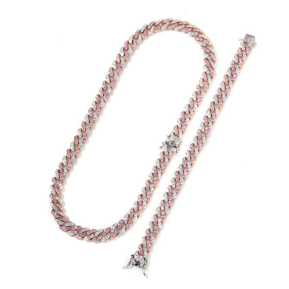 Mini Pink & Silver Cuban (4842918510727)