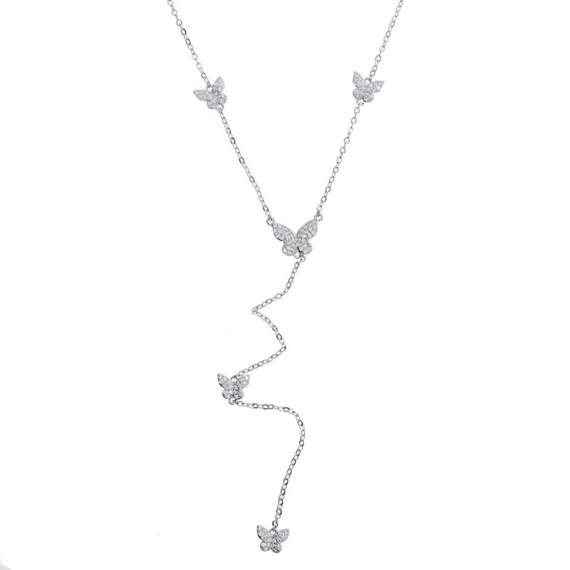 Butterflies Lariat Necklace