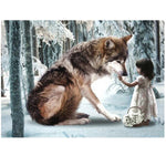 Little Girl & Wolve --- 5D Diamond Painting