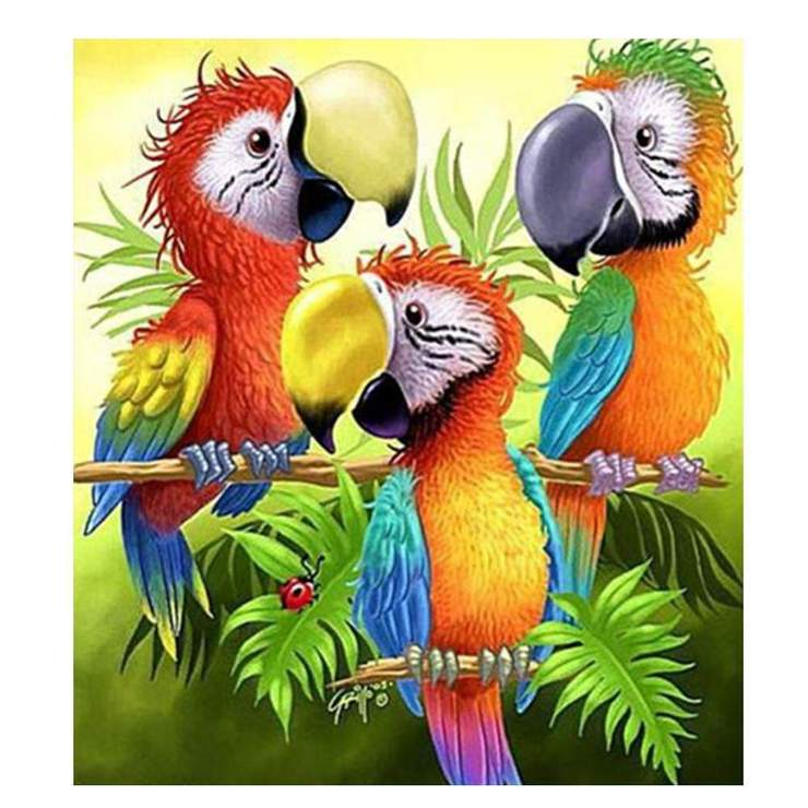 Partial Drill-Animal-5D Diamond Parrot Painting Home Decor