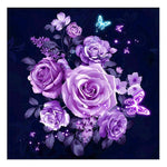 Purple Rose --- DIY 5D Diamond Painting Embroidery