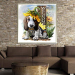 Partial Drill-Animal-Cute Dog 5D Diamond Embroidery Cross Stitch Home Decor