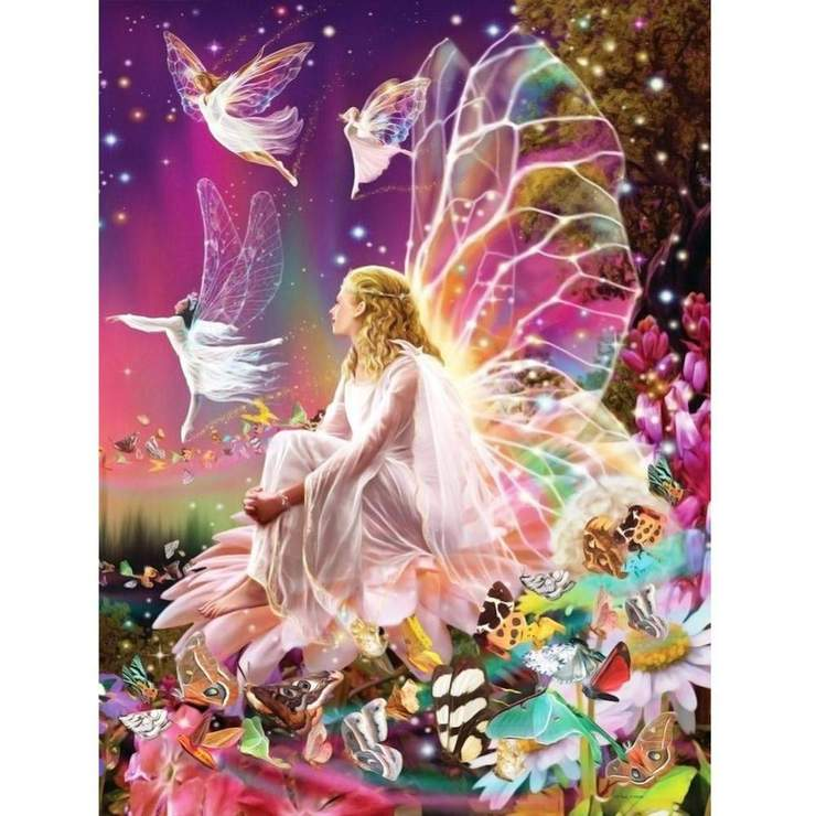 Partial Drill-Animal-Butterfly Fairy 5D Diamond Painting Needlework Decor