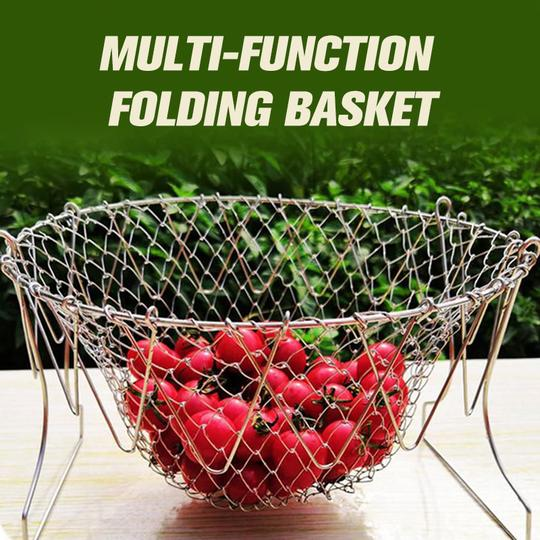 Stainless Steel Multifunction Telescopic Folding Basket