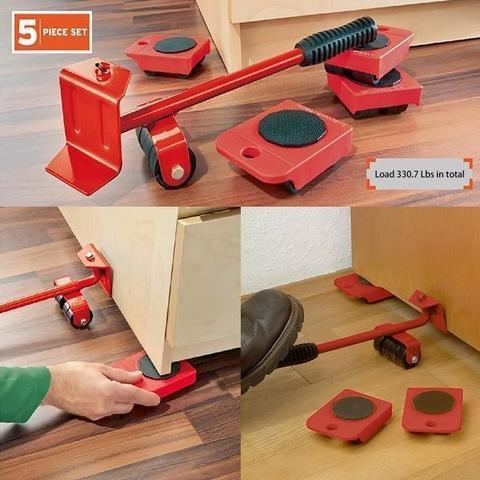 Easy Furniture Lifter Mover Tool Set,Five-piece Suit