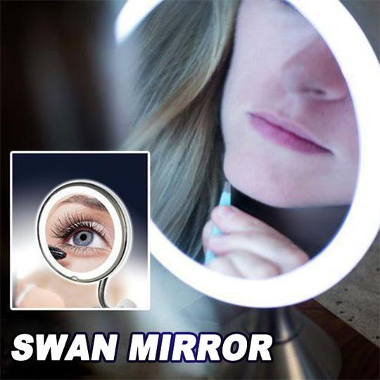 【Flexible Mirror】10x Magnifying LED Lighted Makeup Mirror
