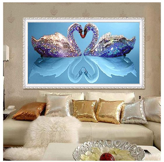 SWAN COUPLE --- 5D Diamond Painting