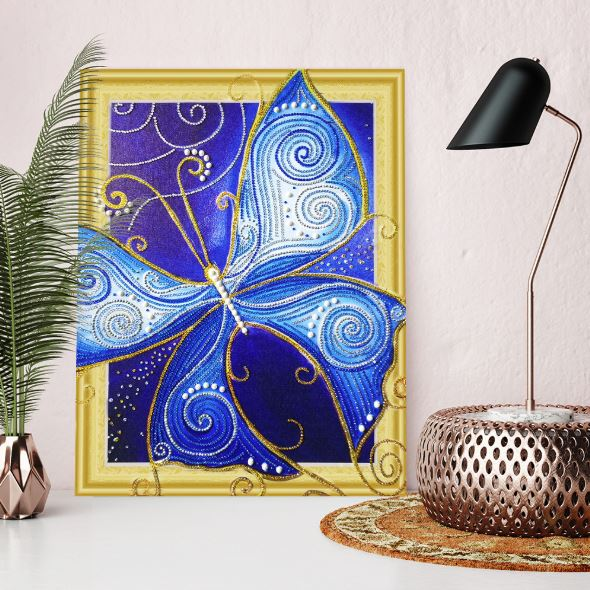 Blue Butterfly---5D Diamond Painting