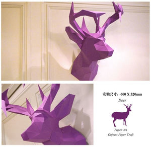 DEER Papertrophy----- 3D DIY Art Craft