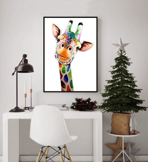 Cute Giraffe ---5D Diamond Painting