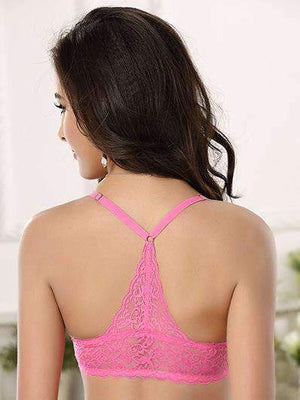 3/4 Cup Lace Smooth Front Close Push Up Adjustable Sexy Bra Set