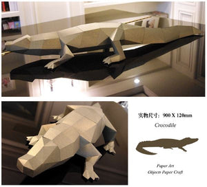 Crocodile Papertrophy----- 3D DIY Art Craft