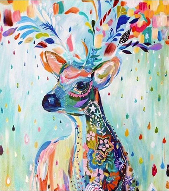 Colorful Deer---5D Diamond Painting