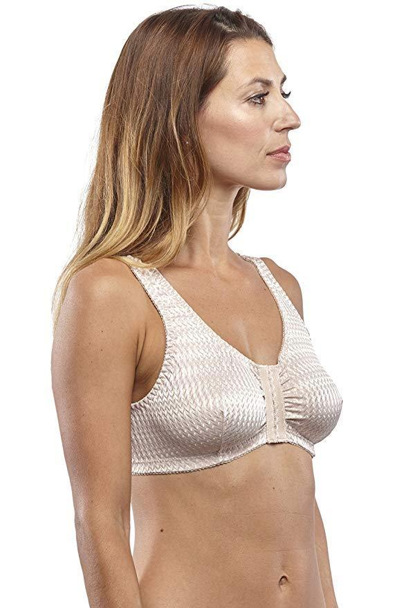Full-Freedom Front Closure Wireless Silk Bra