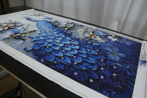 Blue Peacock --- 5D Diamond Painting