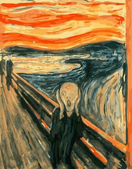 Edvard Munch The Scream  -DIY Painting By Numbers
