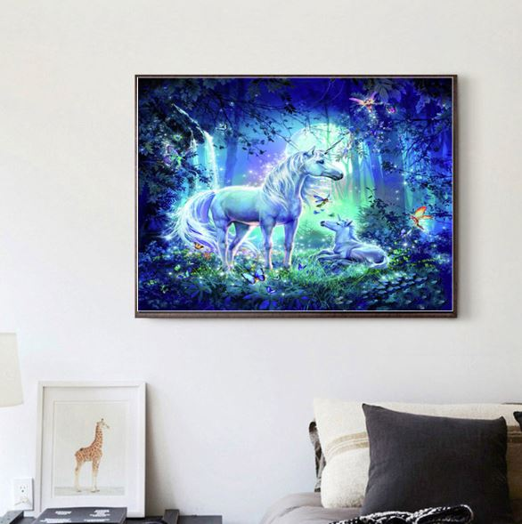Magic Night Unicorn --- 5D Diamond Painting