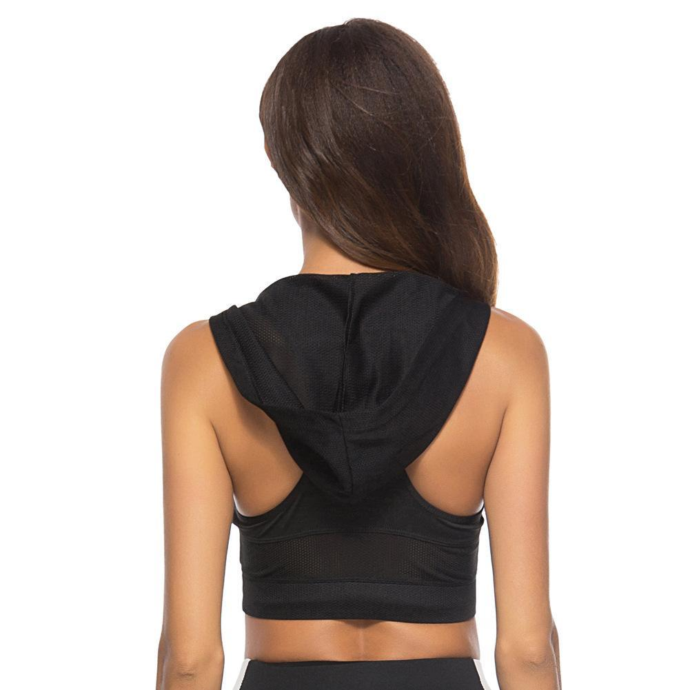 Lift Up Breathable Shockproof  Sport Bra with Hat