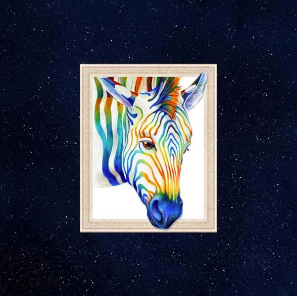Lovely Zebra ---5D Diamond Painting